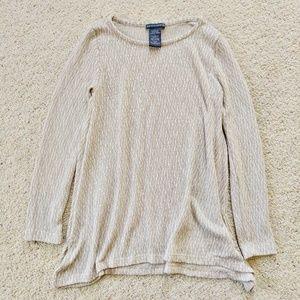🌵Chelsea & Theodore Stone/White Knit Tunic S
